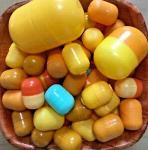 Kinder Surprise EMPTY Capsules / Egg Capsules lot of 48 - Free Postage