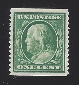 US #352 1909 Green Wmk 191 Perf 12 Vert Mint OG LH VF Scv $95