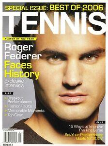 Rare FEDERER Cover of Tennis Magazine January February 2007