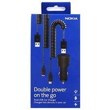 Véritable Nokia DC-20 Dual sortie dans chargeur voiture pour Lumia Nexus Téléphones Samsung