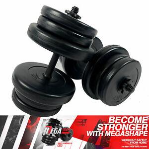 Adjustable DUMBBELLS Set 20kg/30kg/40kg/50kg   ✅Free Weights Barbells Gym UK