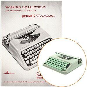 HERMES ROCKET TYPEWRITER INSTRUCTION MANUAL Antique Vtg Schreibmaschine User