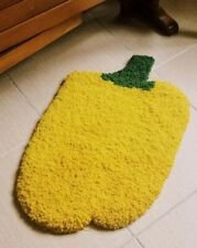 Custome Made Styled Yellow Rug Hand Hooked Tufted Pepper Rug