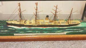 """Built model ship """"oceanic"""" of the white star line 1871"""