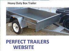 6x4 BOX TRAILER HEAVY DUTY.