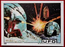 "UFO - Monty Gum (1970) - Card #48 - ""Alien Attack on Moonbase"""