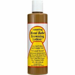 Maui Babe Amazing Browning Lotion Natural Fast Dark Tan Tanning 8 fl oz 236 ml