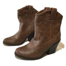 "CATO Brown Boots Size 10W  Soft & 3.5"". Heels"
