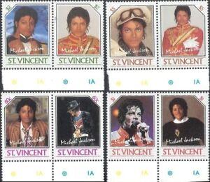 St. Vincent 1985 - Scott# 894-7 - Michael Jackson - Set of 8 Stamps - MNH