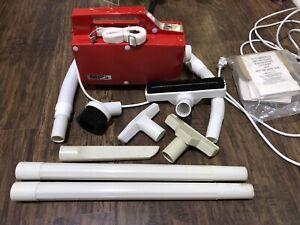 Vintage Buster B. Oreck BB-180 Handheld Vacuum Cleaner Red EUC & 13 Bags, Clean!