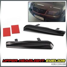 Pair For VW JETTA MK4 1999-2005 Mean Look Upper Headlight Cover Eyelids