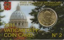 Coincard n° 2 anno 2011 contenente 50 centesimi di euro. Vatikan