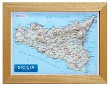 SICILIA CARTA IN RILIEVO [21x30 CM] [CON CORNICE] [CARTINA/MAPPA/POSTER] GLOBAL