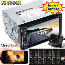 TouchScreen Car Stereo DVD Player Bluetooth FM /USB/ TF/ AUX Mirror Link For GPS