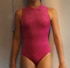 Pink Velvet Gymnastics Leotard Age 9