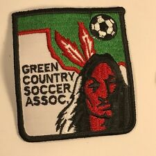 VINTAGE COLLECTIBLE PATCH HISTORICAL MEMORABILIA GREEN COUNTRY SOCCER INDIAN MLS