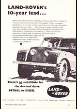 """1958 LAND ROVER SERIES II AD A2 CANVAS PRINT POSTER 23.4""""x16.5"""""""