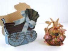 Basket Box The Gifted Line John Grossman Bunny in a Basket & Baby Stroller Blue