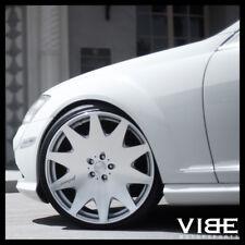 "20"" MRR HR3 SILVER CONCAVE VIP WHEELS RIMS FITS MERCEDES W221 S550 S63"