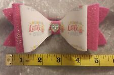 Large  Plastic Double Hair Bow Template Make Your Own Glitter fabric Bows