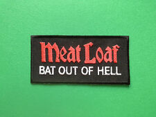 HEAVY METAL PUNK ROCK MUSIC SEW ON / IRON ON PATCH:- MEAT LOAF BAT OUT OF HELL