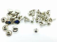 100 2 Pcs Silver Tubular Cap Rivets 8mm x 8mm Leather Craft Rivets Repair Single