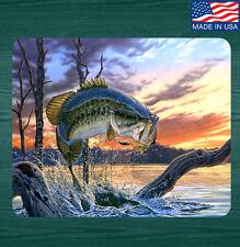 Bass Fishing Mouse Pad Mat V2