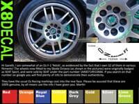 Ruota Centrale Adesivi Decal Per OZ Corsa F1 X8 132mm Attraverso Vari Colori