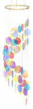 Rainbow Colored Spiral Capiz Chime Windchime New 31.5 Inches