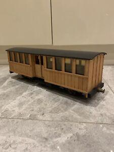 SM32 Narrow Gauge Wooden Planked Bogie Coach Garden Railway Scratch Built