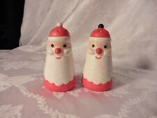 Holt Howard Christmas Jingle Bells Santa Claus Salt Pepper Shakers Rare