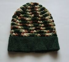Handmade Ladies/Small Men's Camo Hat **Wool-Blend and Acrylic Camouflage**
