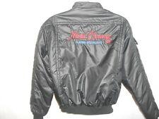 Vtg Hard Chrome Co. Advertising Black Moto Jacket Hot Rat Rod Cafe Racer Sz L
