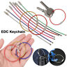 Rope Screw EDC Keychain Wire Keyrings Stainless Steel Carabiner Key Holder