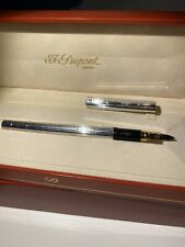 S.T. DUPONT Silver  18K Gold Tip FOUNTAIN PEN New Never Used