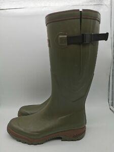 Men's Aigle Parcours 2 Vario Kaki Anti-Fatigue Hunting BootsSize UK10.5 EU45