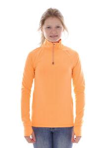 Brunotti Fleece Pullover Function Top Orange Yrenny Breathable