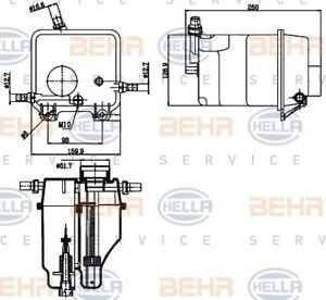 Behr Hella Service 8MA 376 755-211 Coolant Expansion Tank