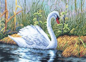 Panna Cross Stitch Kit : White Swan