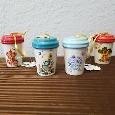 Disney Parks Starbucks ORNAMENT Set Coffee Cup Tumbler Christmas Magic Kingdom