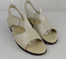 SAS Suntimers Sandals Size 8.5 Tripod Comfort Leather Sling backs Pearl Bone