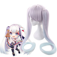 Vocaloid 2018 Snow Witch Miku Hatsune Purple Straight Cosplay Wig with Ponytails