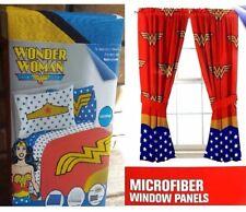 Wonder Woman 4 pc Full Microfiber Sheet + 4pc Curtain Set Girl Bedroom Christmas
