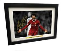 12x8 Signed Mo Mohamed Salah Liverpool Photo Photograph Autograph Picture Frame