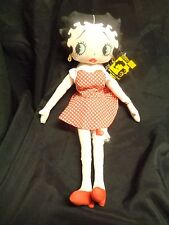 "BETTY BOOP 1999 Plush 17"" Birthday Doll Red Polka Dot Dress & Heart Garter"