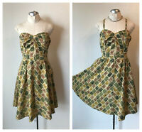 VTG 50s Hawaiian Novelty Tiki pinup bombshell by Calif. Colony Casuals  XS