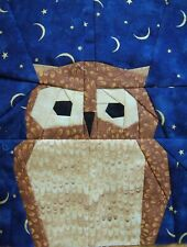 2 Paper Pieced Night Owl Bird quilt block
