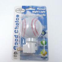 Good Choice Good Housekeeping Manual Night Light Kids Bedroom Hallway Baseball