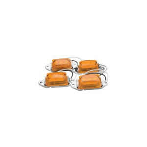 Roadpro RP-1445 LED Clearance Marker Lights Amber 4 Pack