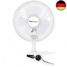 Clip-Ventilator 15cm 2 Stufig 16W Tischventilator Umluftventilator Fan